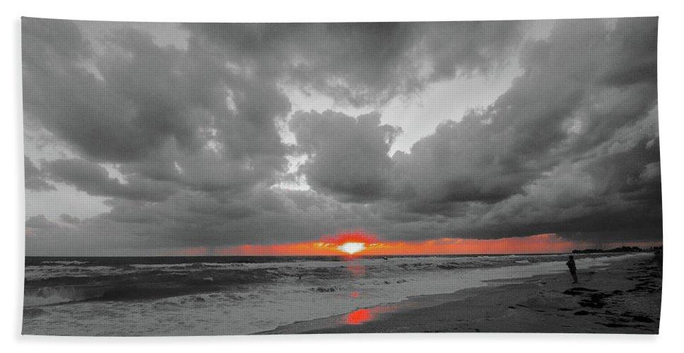 Sunset Beach Towel featuring the photograph Florida Sunset by Martin Michael Pflaum