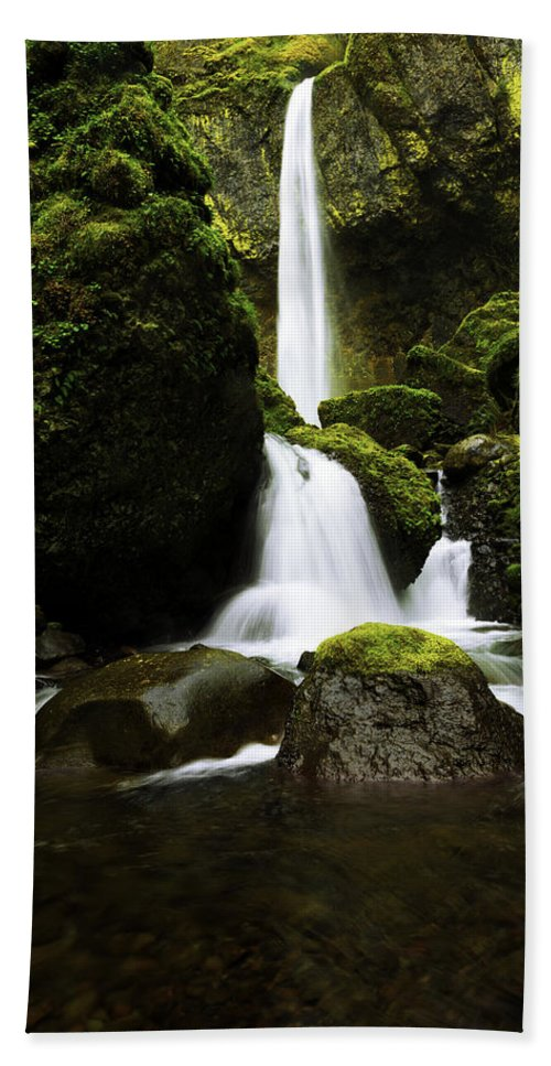 Northwest Beach Towel featuring the photograph Flow by Chad Dutson