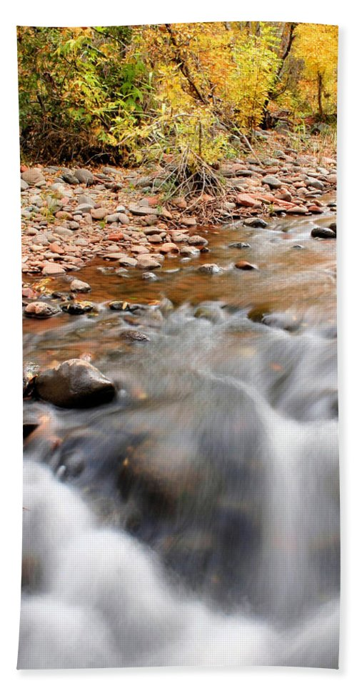 Sedona Beach Towel featuring the photograph Flow In Sedona by Kristin Elmquist