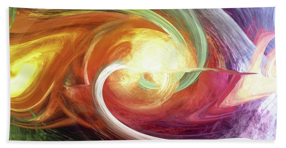 Flow Beach Towel featuring the digital art Flow by Linda Sannuti