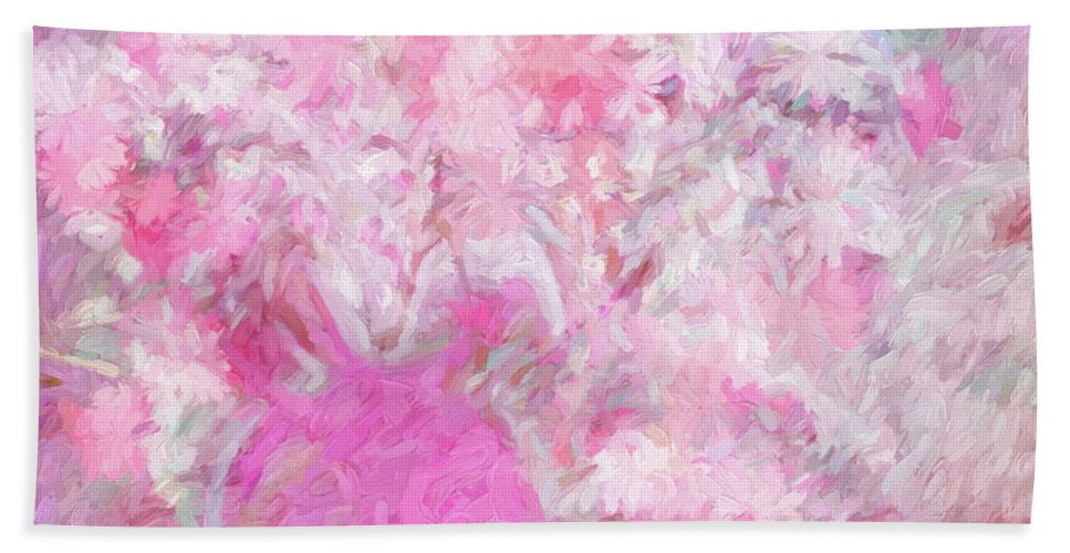 Flowers Beach Towel featuring the digital art Flower Art The Scent Of Love Is In The Air by Sherri's - Of Palm Springs