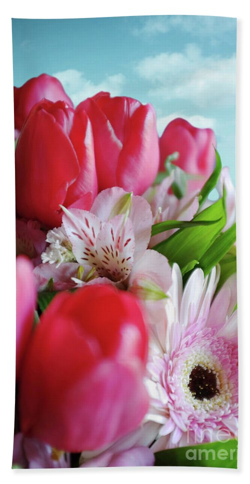 Abloom Beach Towel featuring the photograph Flower Bouquet by Carlos Caetano