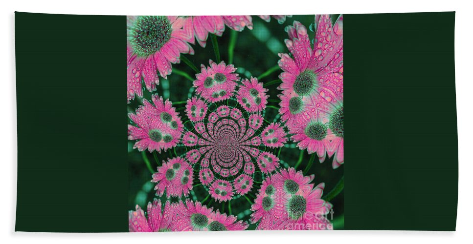 Flower Beach Towel featuring the photograph Flower Design by Karol Livote