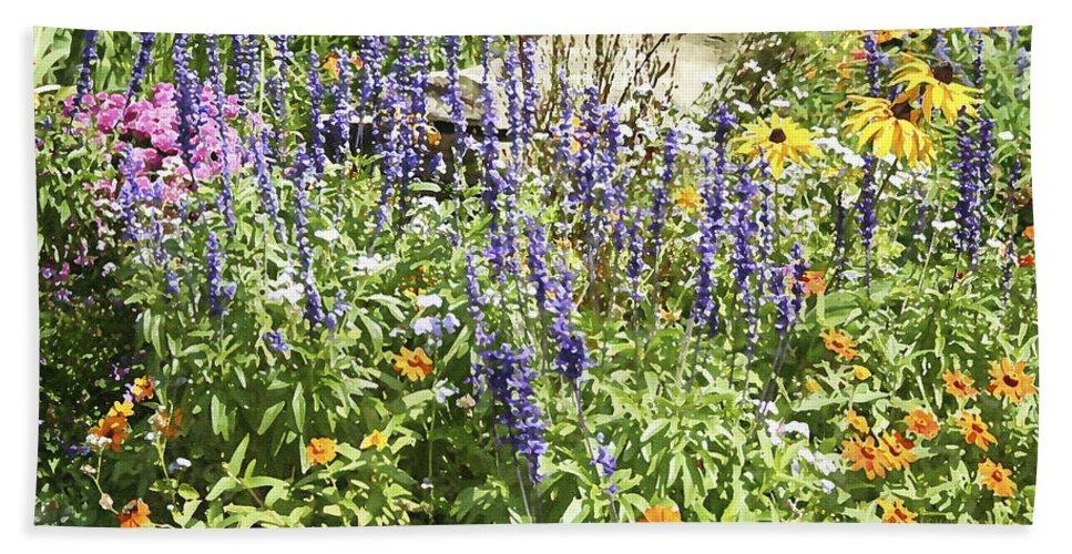 Flower Beach Towel featuring the photograph Flower Garden by Margie Wildblood