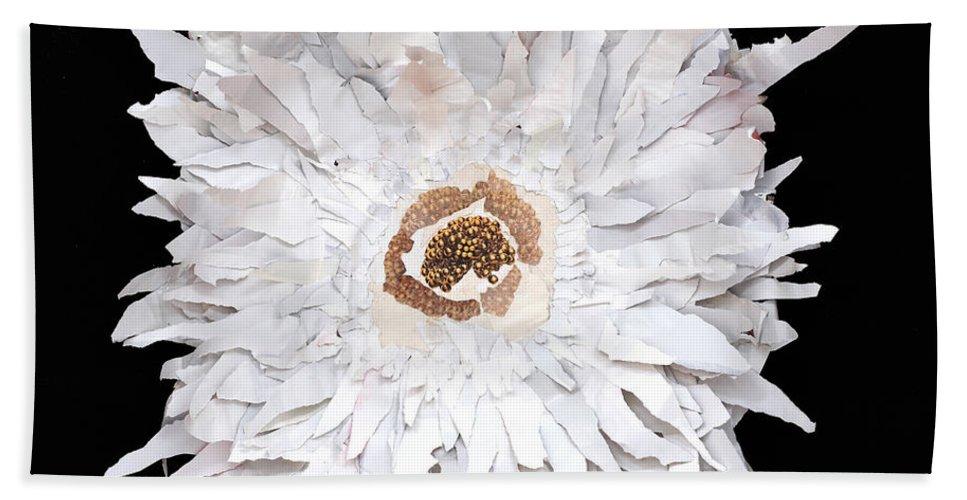 Flower Beach Towel featuring the mixed media Flower by Jaime Becker