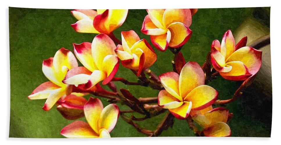 Branch Beach Towel featuring the digital art Flowerage by Max Steinwald