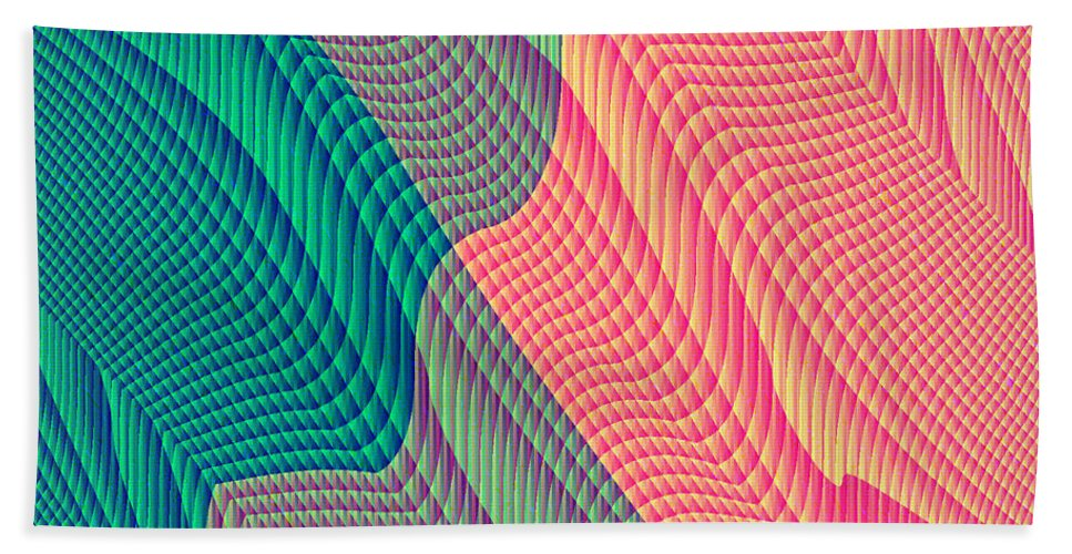 Electronic Beach Towel featuring the digital art Flowing Mysteries by Joel Kahn