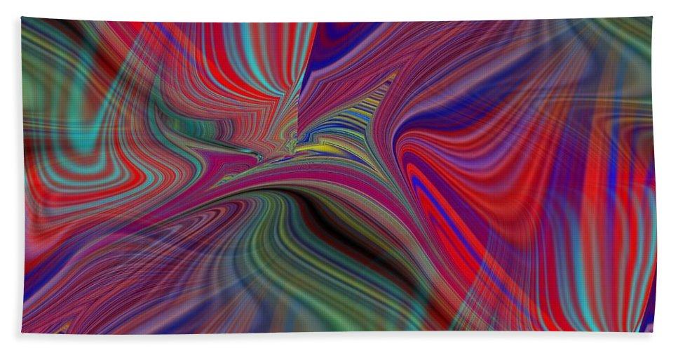 Fluid Beach Towel featuring the digital art Fluid Motion 6 by Tim Allen
