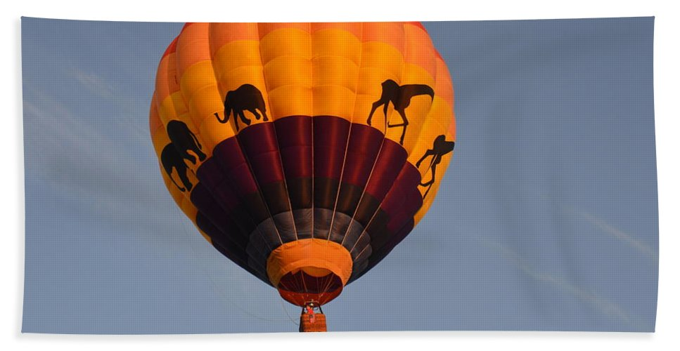 Balloons Beach Towel featuring the photograph Flying High by Charles HALL