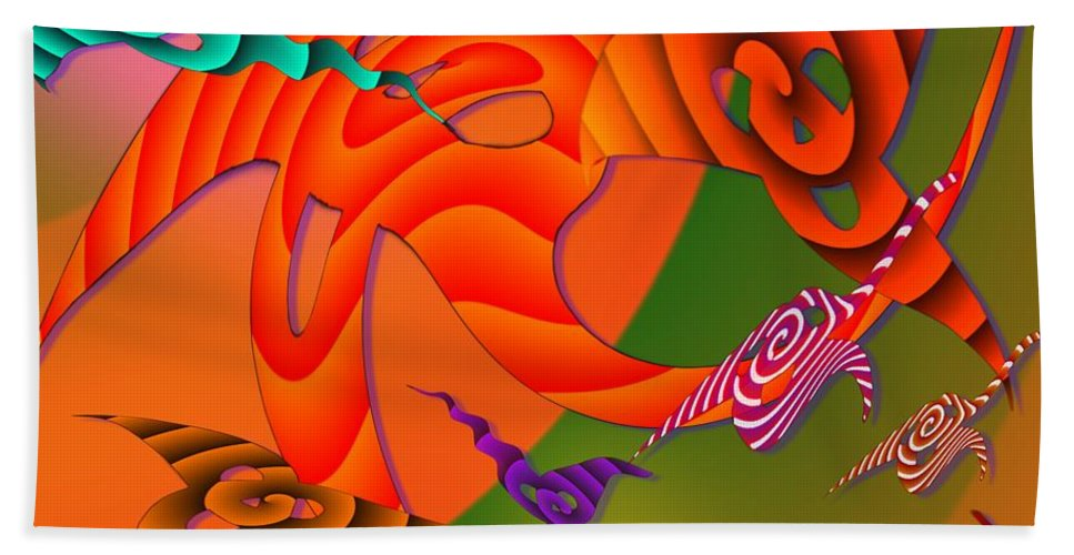 Triangles Beach Towel featuring the digital art Flying Triangles by Helmut Rottler