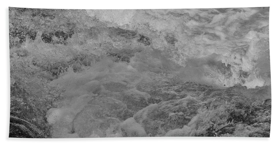 Water Beach Towel featuring the photograph Foam Frozen In Time by Michael Potts