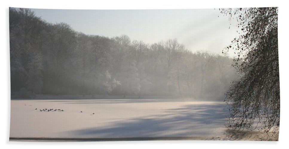 Fog Beach Towel featuring the photograph Fog And Snow by Christiane Schulze Art And Photography