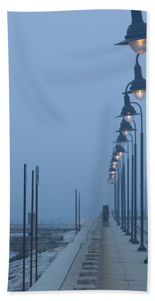 Fog Beach Towel featuring the photograph Foggy Evening by Steven Natanson