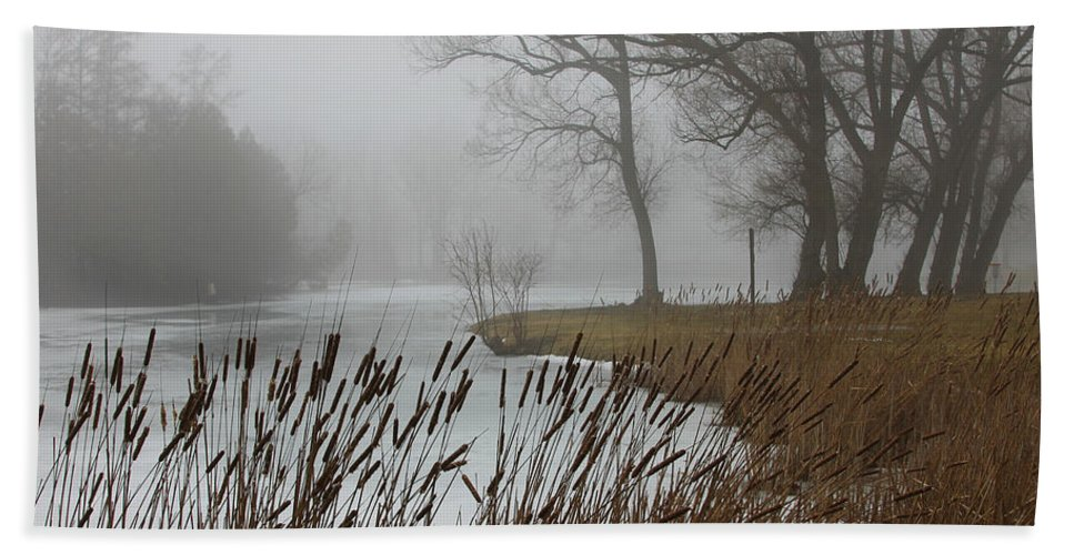Landscaps Beach Towel featuring the photograph Foggy by Steve Bell