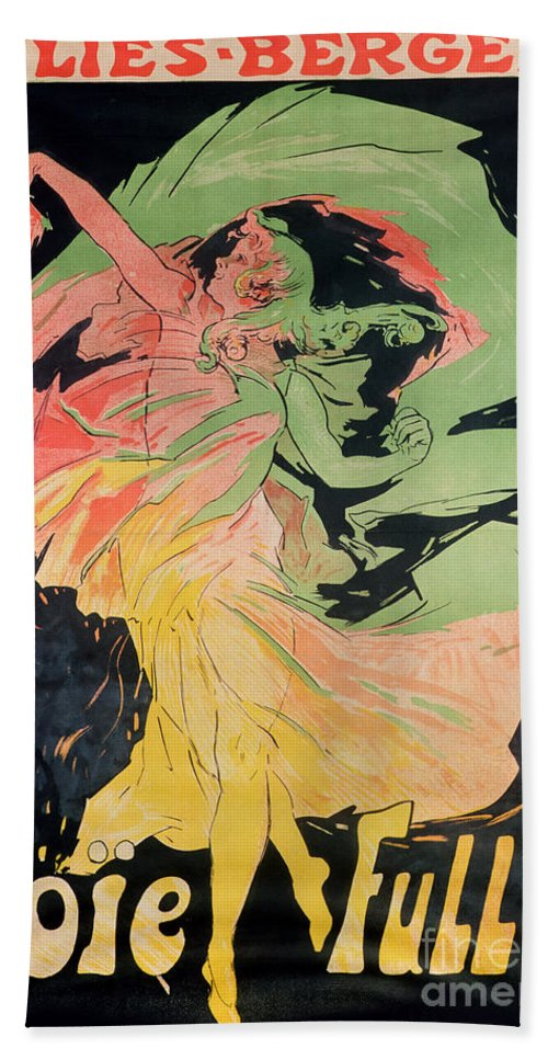 Jules Beach Towel featuring the painting Folies Bergeres by Jules Cheret