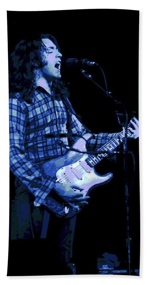 Rock Musicians Beach Towel featuring the photograph Follow Me by Ben Upham
