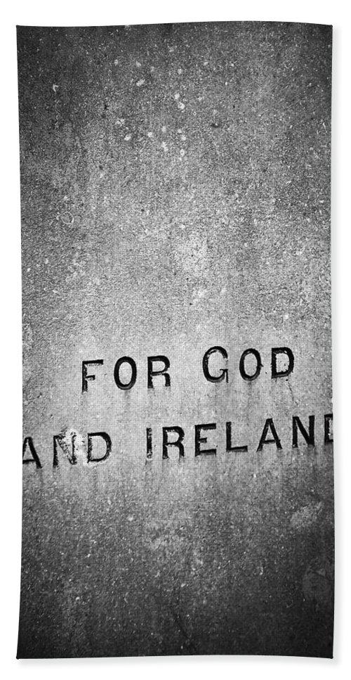 Irish Beach Sheet featuring the photograph For God And Ireland Macroom Ireland by Teresa Mucha