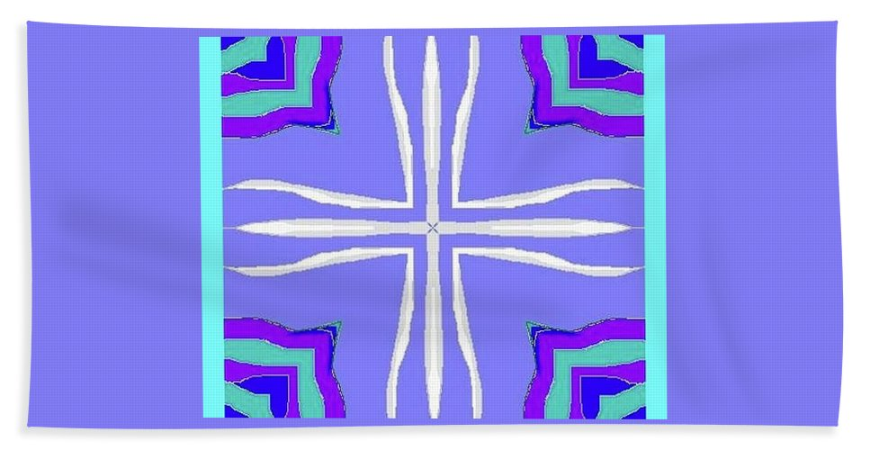 Fractal Image Beach Towel featuring the digital art For Luci by Amber Stubbs