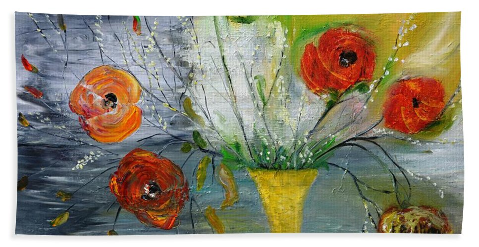 Floral Beach Towel featuring the photograph For Mom by Evelina Popilian