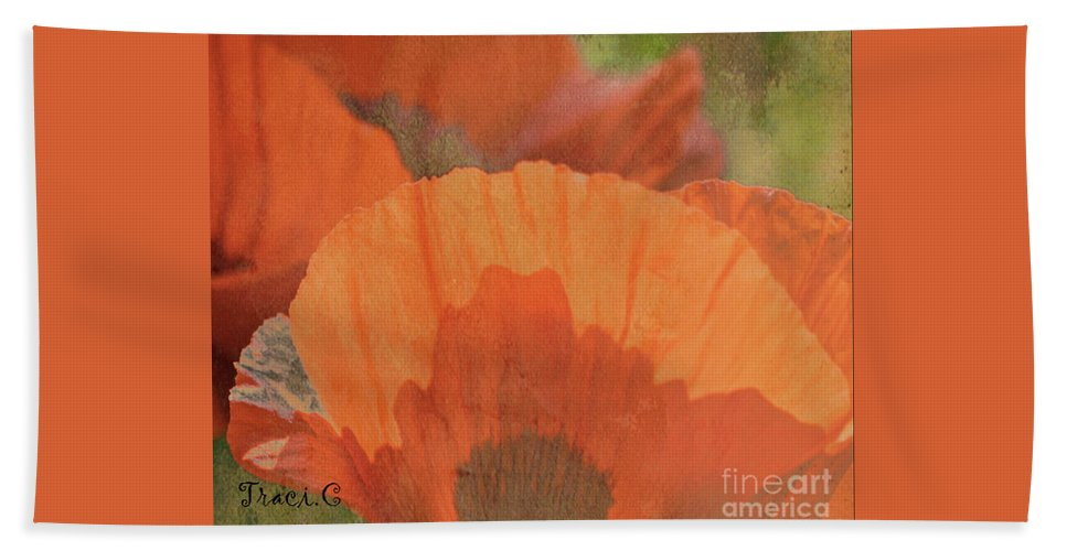 Poppy Beach Towel featuring the photograph For The Love Of Poppy by Traci Cottingham