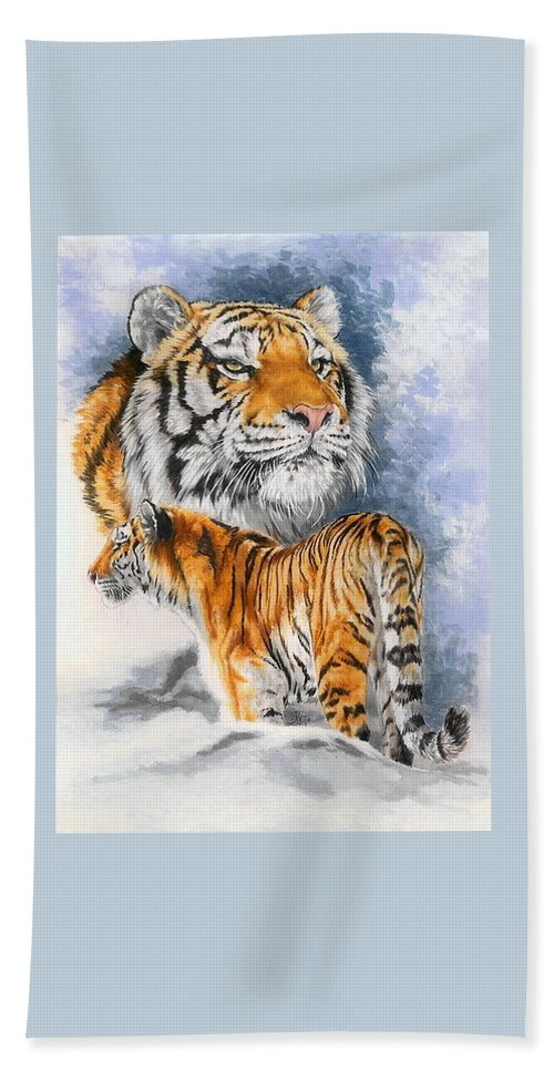 Big Cats Beach Sheet featuring the mixed media Forceful by Barbara Keith