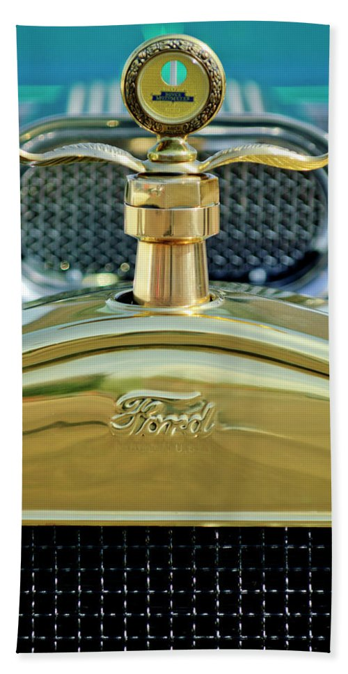 Ford Beach Towel featuring the photograph Ford Boyce Motometer 2 by Jill Reger