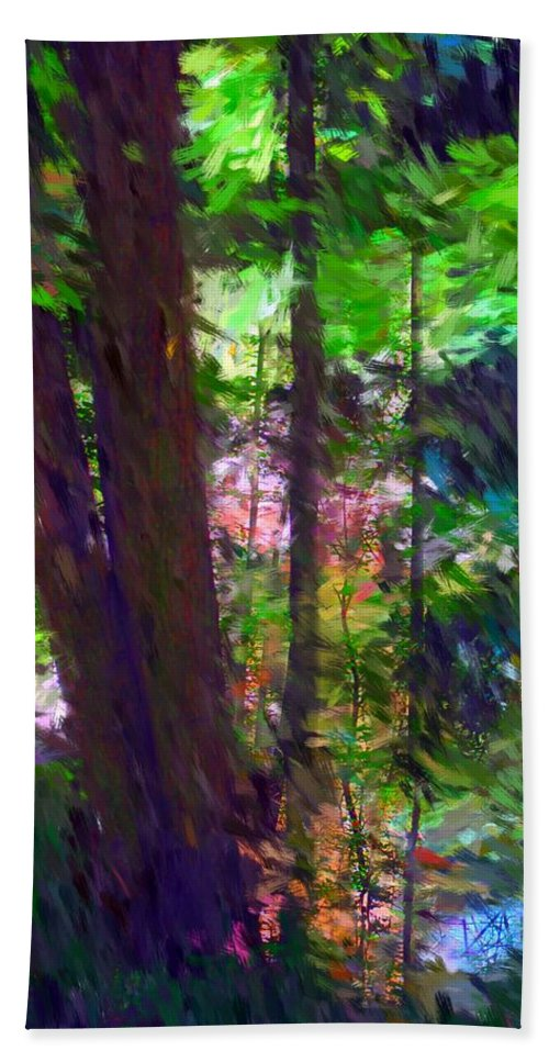 Digital Photography Beach Sheet featuring the digital art Forest For The Trees by David Lane