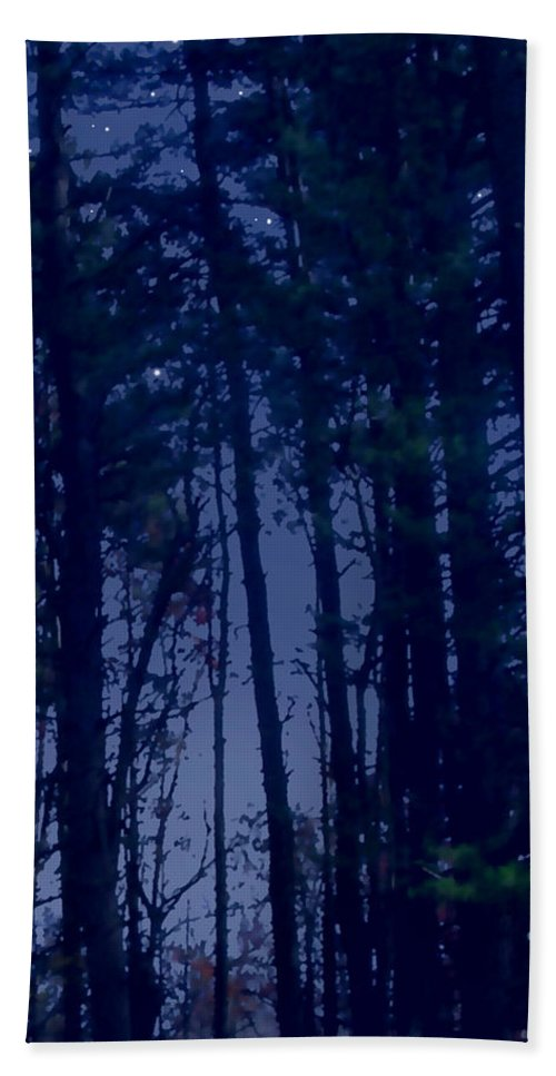 Forest Beach Towel featuring the painting Forest Starlight by Paul Sachtleben