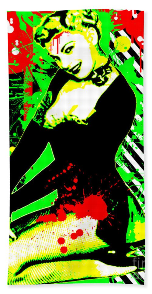 Nostalgic Seduction Beach Towel featuring the digital art Forever Pinup IIi by Chris Andruskiewicz