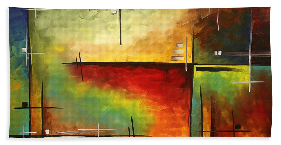 Abstract Beach Towel featuring the painting Forgotten Promise By Madart by Megan Duncanson