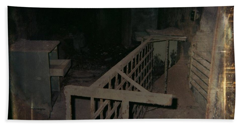 Abandoned Building Beach Towel featuring the photograph Forgotten Room by Gothicrow Images