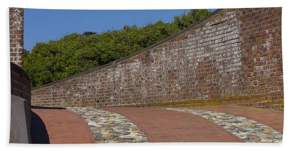 Harkers Island Beach Towel featuring the photograph Fort Macon by Betsy Knapp
