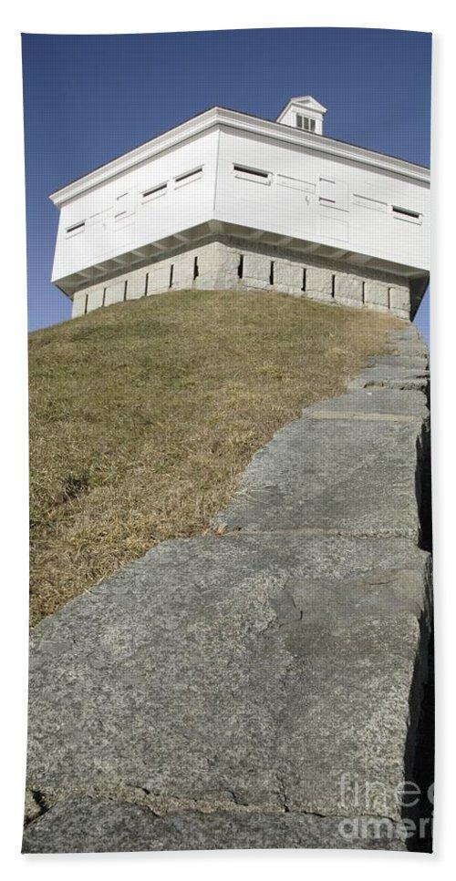 Atlantic Ocean Beach Towel featuring the photograph Fort Mcclary - Kittery Maine Usa by Erin Paul Donovan