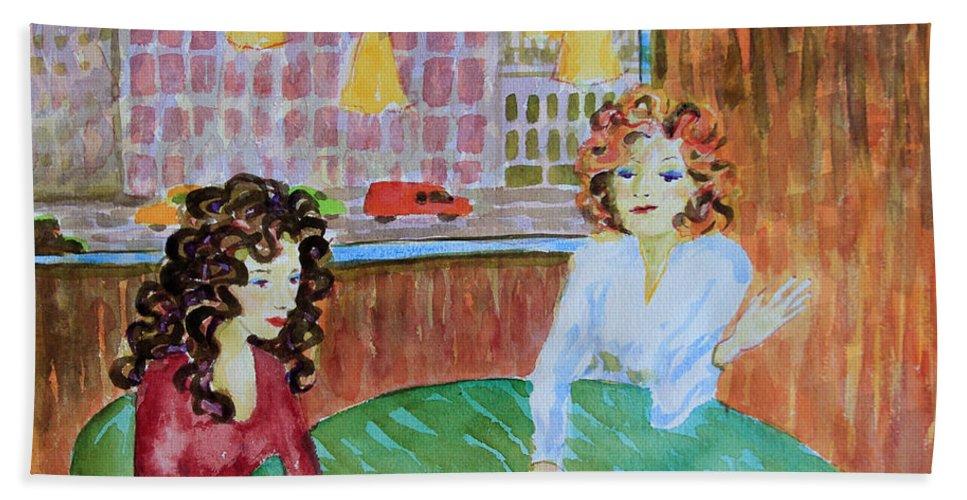 Bonnie Follett Beach Towel featuring the painting Fortune Teller by Bonnie Follett
