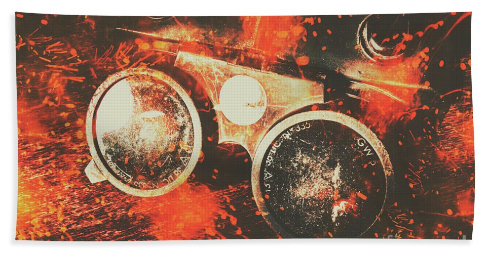 Metal Beach Towel featuring the photograph Foundry Formations by Jorgo Photography - Wall Art Gallery