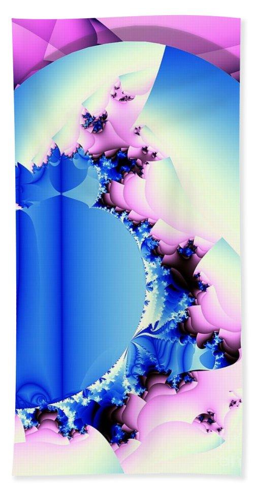 Fractal Art Beach Towel featuring the digital art Fractal Cornucopia by Ron Bissett
