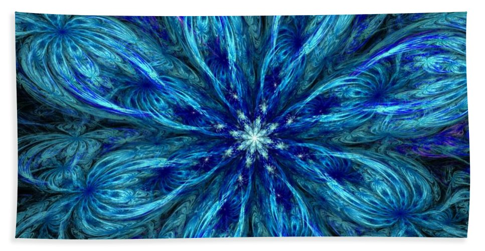 Abstract Beach Towel featuring the digital art Fractal Flora 062610 by David Lane