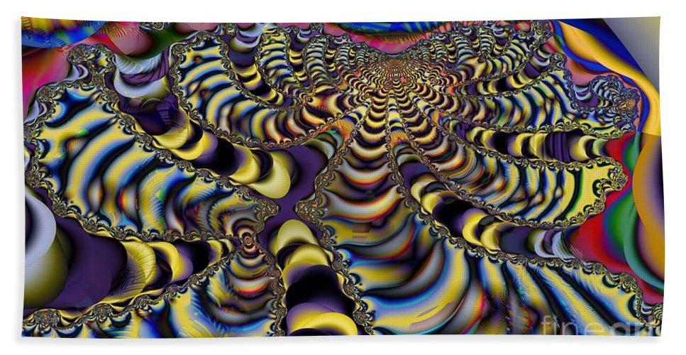 Flower Beach Towel featuring the digital art Fractal Flower by Ron Bissett