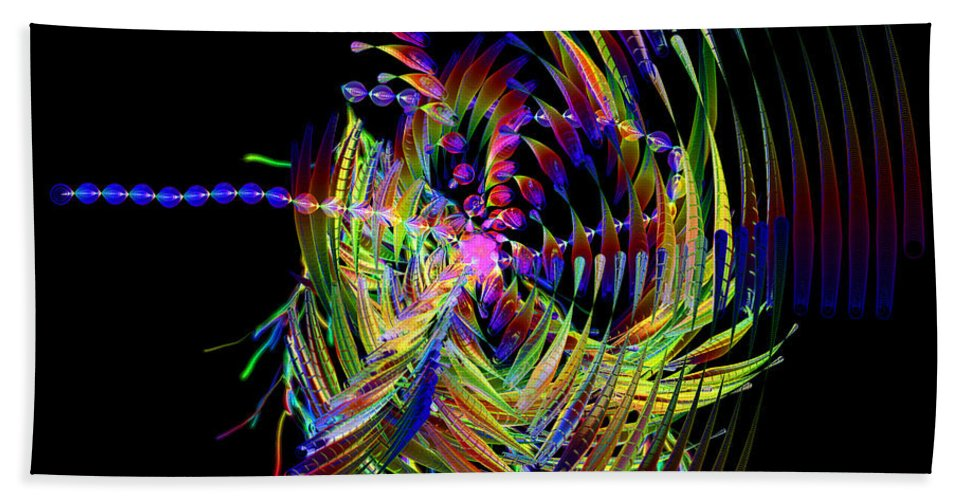 Fractal Beach Towel featuring the digital art Fractal Folly by Jeffrey Kolker