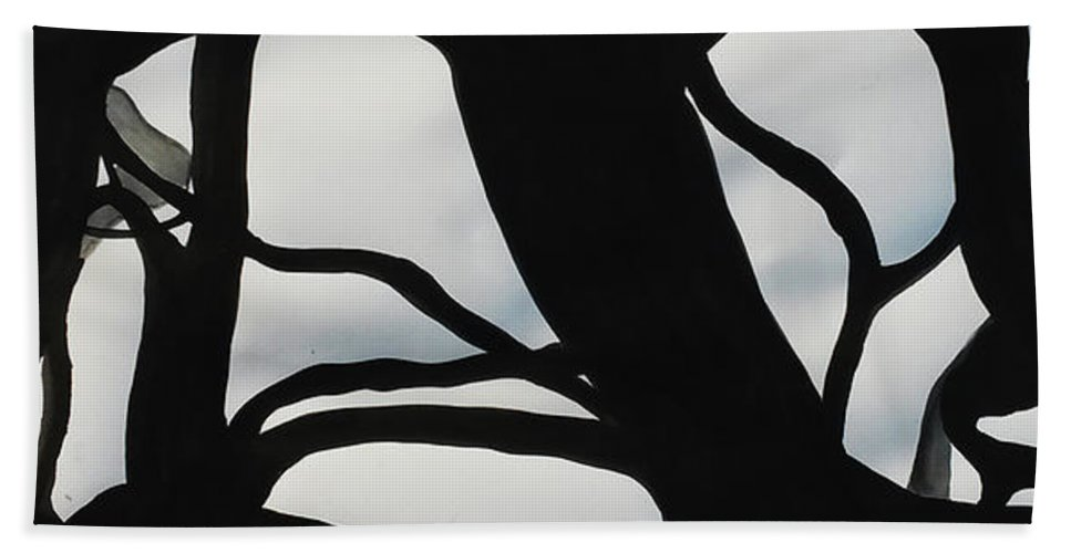 Trees Beach Towel featuring the painting Fractal Knot by Leila Atkinson