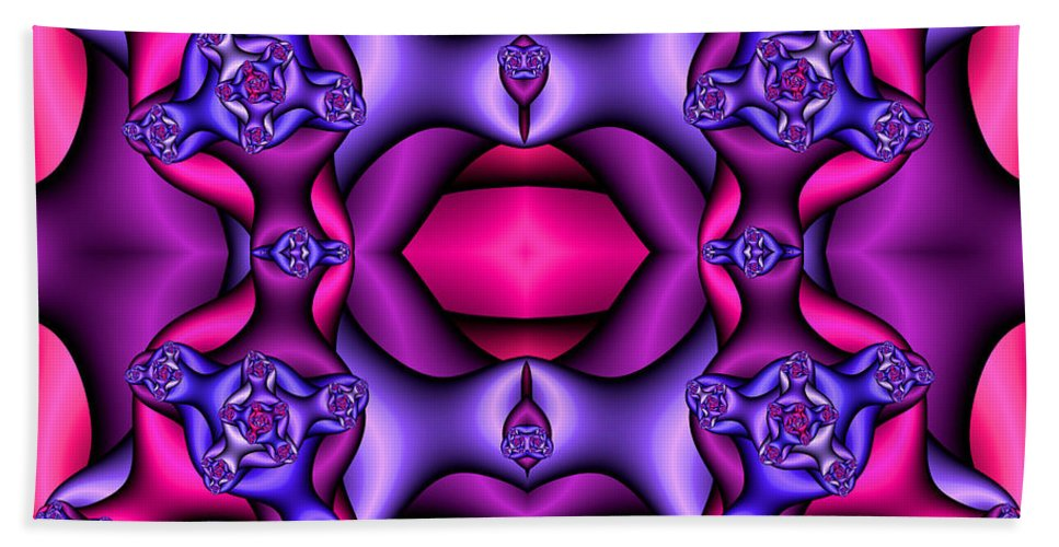 Beach Towel featuring the digital art Fractals By Design by Clayton Bruster