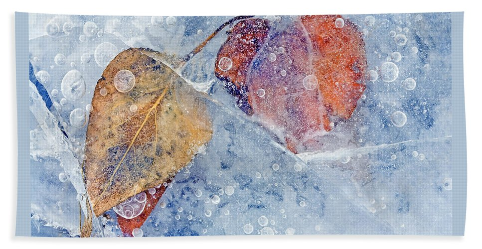 Ice Beach Towel featuring the photograph Fractured Seasons by Mike Dawson
