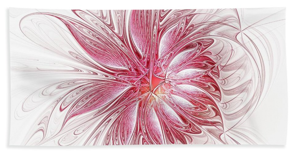 Digital Art Beach Towel featuring the digital art Fragile by Amanda Moore