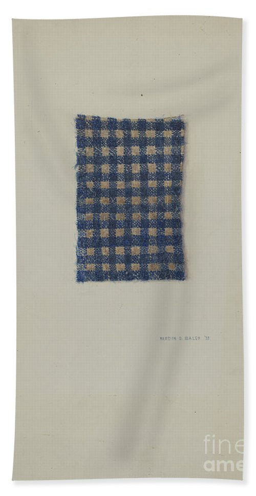Beach Towel featuring the drawing Fragment Of Comforter by Hardin Walsh