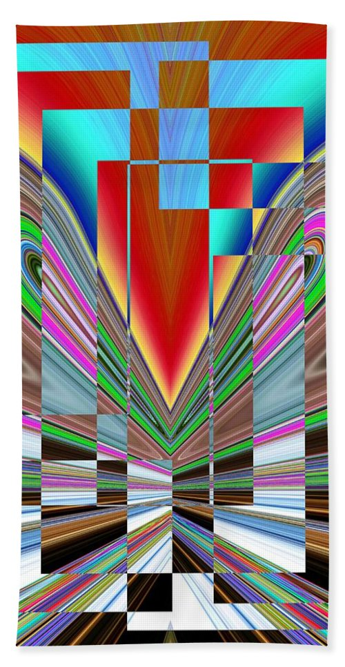 Abstract Beach Towel featuring the digital art Frame Of Mind by Tim Allen