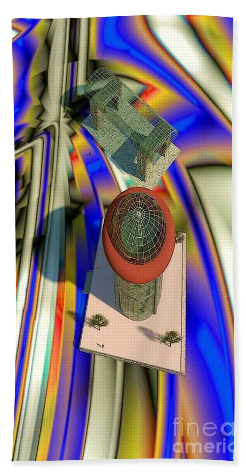 3d Modeling Beach Towel featuring the digital art Frame Of Reference by Ron Bissett