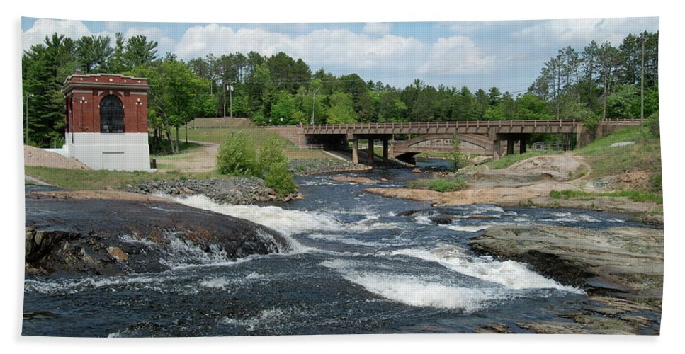Waterfall Beach Towel featuring the photograph Frank J Russel Falls 1 by Michael Peychich