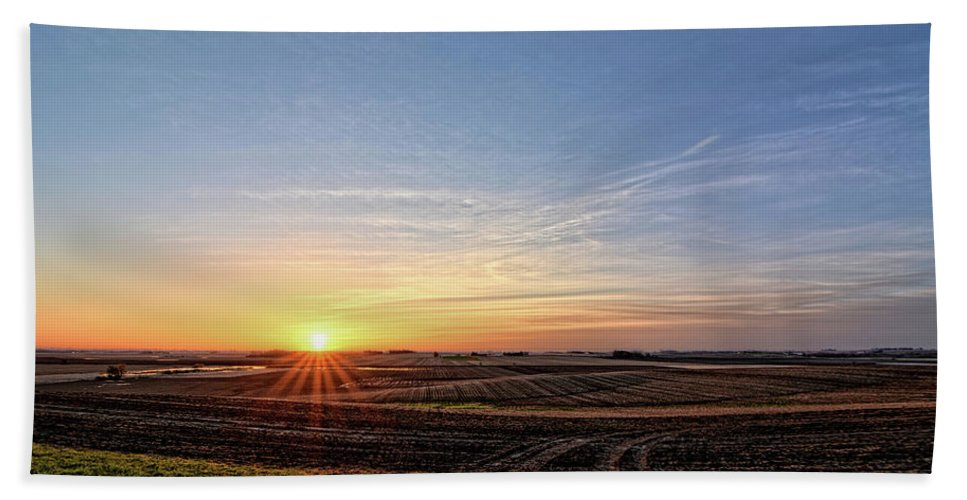 Sun Beach Towel featuring the photograph Franklin County Iowa by Bonfire Photography