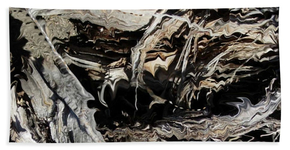 Abstract Art Beach Towel featuring the photograph Frayed and Distracted Thoughts by Stephanie H Johnson