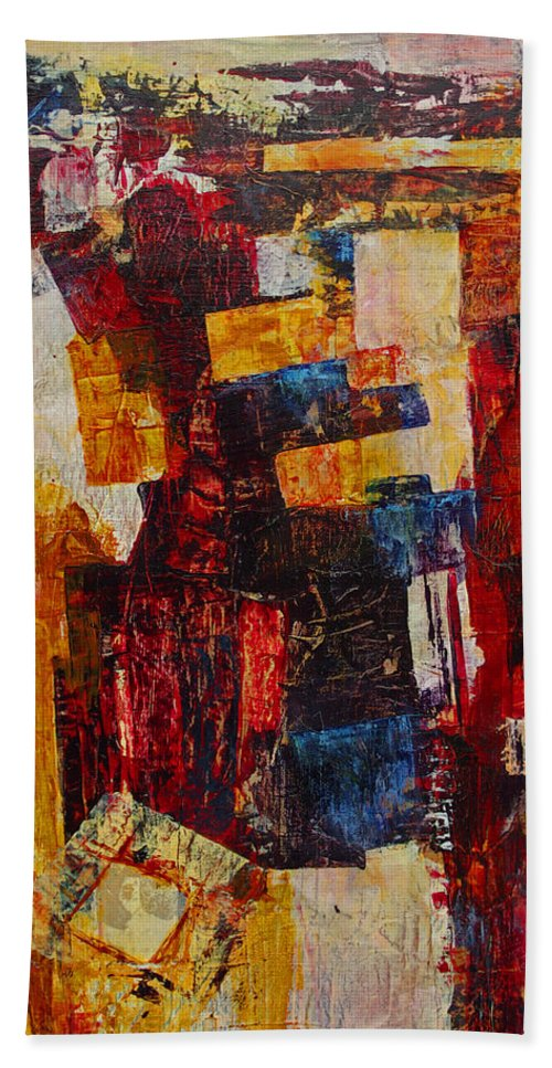 Free Beach Towel featuring the mixed media Free Falling by Cindy Johnston